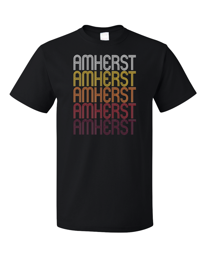 Standard Black Amherst, OH | Retro, Vintage Style Ohio Pride  T-shirt