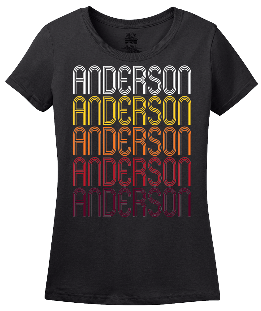 Ladies Black Anderson, MO | Retro, Vintage Style Missouri Pride  T-shirt