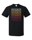 Standard Black Angier, NC | Retro, Vintage Style North Carolina Pride  T-shirt