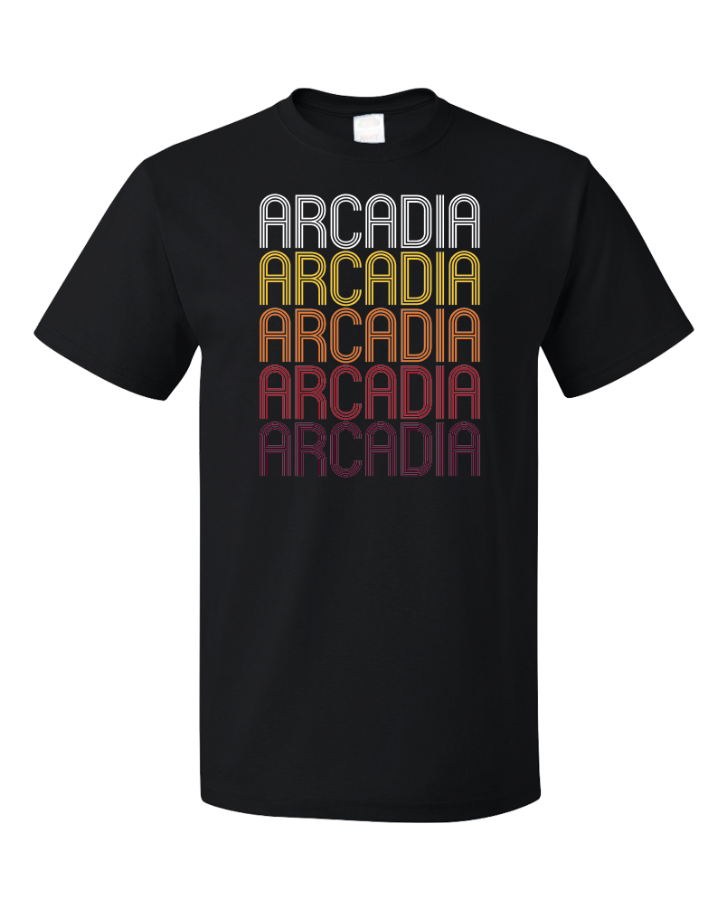 Standard Black Arcadia, IN | Retro, Vintage Style Indiana Pride  T-shirt