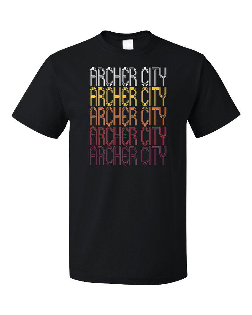 Standard Black Archer City, TX | Retro, Vintage Style Texas Pride  T-shirt
