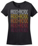 Ladies Black Arden-Arcade, CA | Retro, Vintage Style California Pride  T-shirt