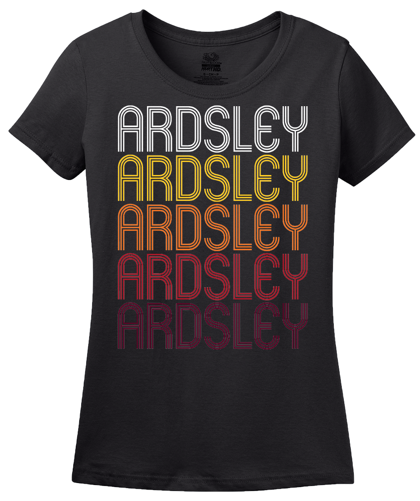 Ladies Black Ardsley, NY | Retro, Vintage Style New York Pride  T-shirt