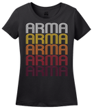 Ladies Black Arma, KS | Retro, Vintage Style Kansas Pride  T-shirt