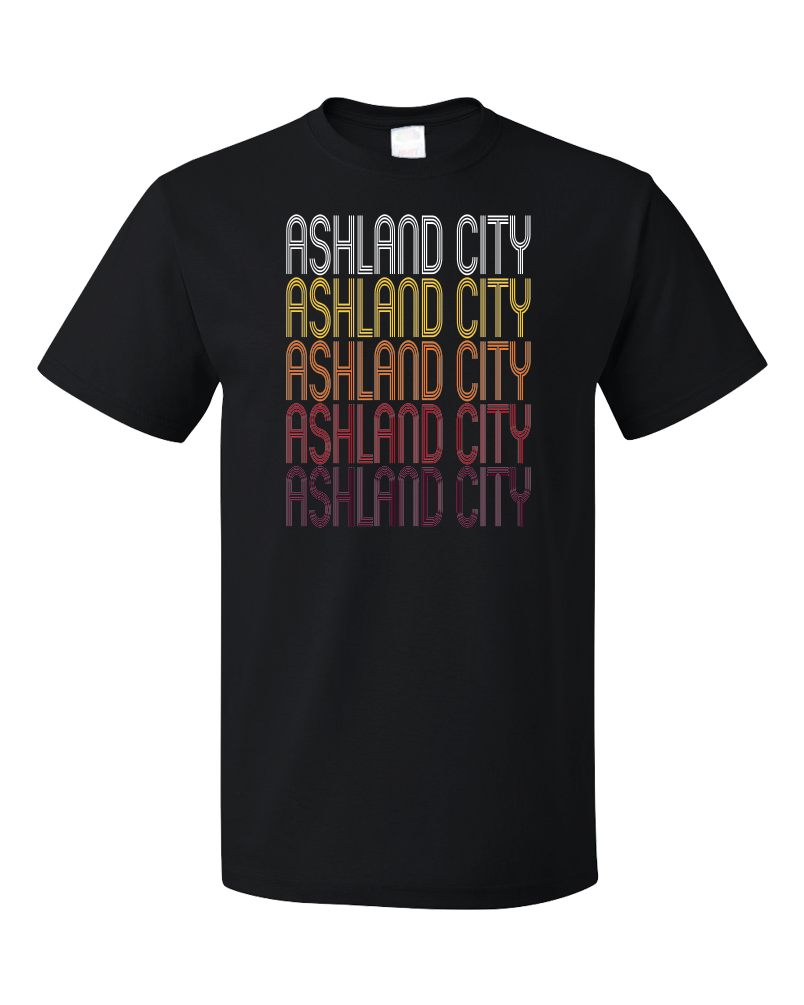 Standard Black Ashland City, TN | Retro, Vintage Style Tennessee Pride  T-shirt