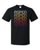 Standard Black Aspen, CO | Retro, Vintage Style Colorado Pride  T-shirt