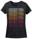 Ladies Black Audubon Park, NJ | Retro, Vintage Style New Jersey Pride  T-shirt