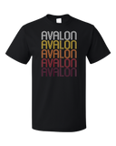 Standard Black Avalon, CA | Retro, Vintage Style California Pride  T-shirt