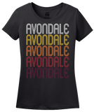 Ladies Black Avondale, PA | Retro, Vintage Style Pennsylvania Pride  T-shirt