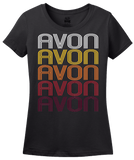 Ladies Black Avon, NY | Retro, Vintage Style New York Pride  T-shirt