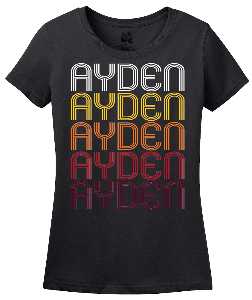 Ladies Black Ayden, NC | Retro, Vintage Style North Carolina Pride  T-shirt