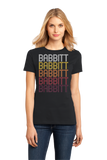 Ladies Black Babbitt, MN | Retro, Vintage Style Minnesota Pride  T-shirt