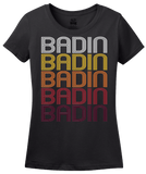 Ladies Black Badin, NC | Retro, Vintage Style North Carolina Pride  T-shirt