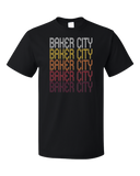 Standard Black Baker City, OR | Retro, Vintage Style Oregon Pride  T-shirt