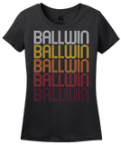 Ladies Black Ballwin, MO | Retro, Vintage Style Missouri Pride  T-shirt
