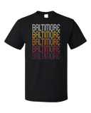 Standard Black Baltimore, MD | Retro, Vintage Style Maryland Pride  T-shirt