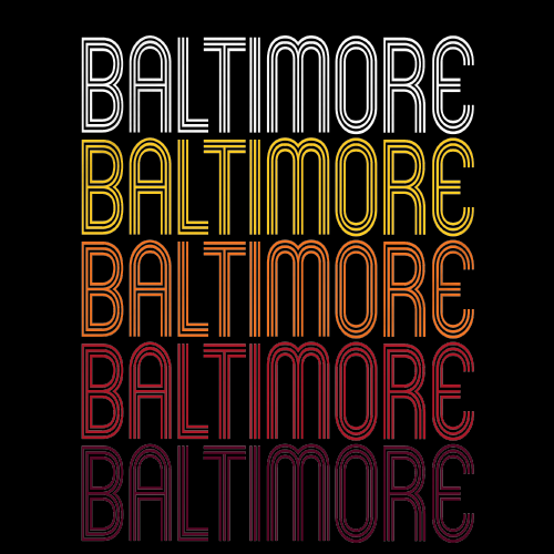 Baltimore, MD | Retro, Vintage Style Maryland Pride