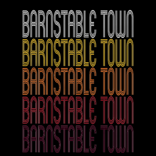 Barnstable Town, MA | Retro, Vintage Style Massachusetts Pride