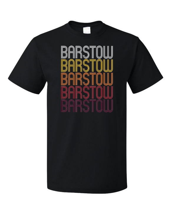 Standard Black Barstow, CA | Retro, Vintage Style California Pride  T-shirt