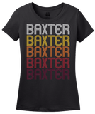 Ladies Black Baxter, TN | Retro, Vintage Style Tennessee Pride  T-shirt