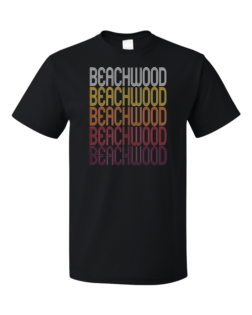 Standard Black Beachwood, NJ | Retro, Vintage Style New Jersey Pride  T-shirt