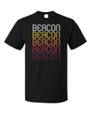 Standard Black Beacon, NY | Retro, Vintage Style New York Pride  T-shirt