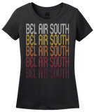 Ladies Black Bel Air South, MD | Retro, Vintage Style Maryland Pride  T-shirt