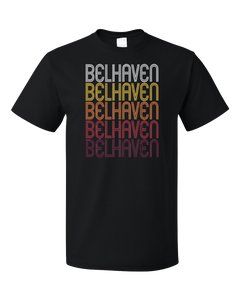 Standard Black Belhaven, NC | Retro, Vintage Style North Carolina Pride  T-shirt