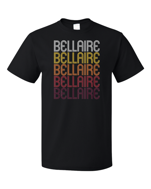 Standard Black Bellaire, MI | Retro, Vintage Style Michigan Pride  T-shirt