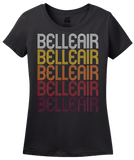Ladies Black Belleair, FL | Retro, Vintage Style Florida Pride  T-shirt