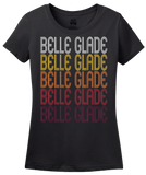 Ladies Black Belle Glade, FL | Retro, Vintage Style Florida Pride  T-shirt