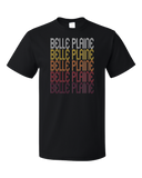 Standard Black Belle Plaine, KS | Retro, Vintage Style Kansas Pride  T-shirt