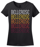 Ladies Black Bellerose, NY | Retro, Vintage Style New York Pride  T-shirt