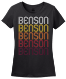 Ladies Black Benson, MN | Retro, Vintage Style Minnesota Pride  T-shirt