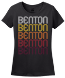 Ladies Black Benton, KY | Retro, Vintage Style Kentucky Pride  T-shirt