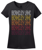 Ladies Black Berkeley Lake, GA | Retro, Vintage Style Georgia Pride  T-shirt