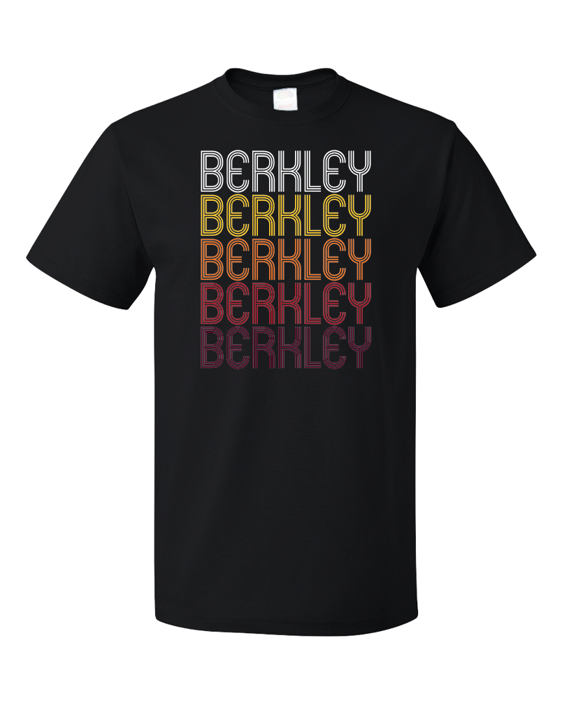Standard Black Berkley, MI | Retro, Vintage Style Michigan Pride  T-shirt