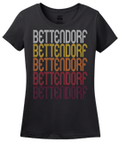Ladies Black Bettendorf, IA | Retro, Vintage Style Iowa Pride  T-shirt