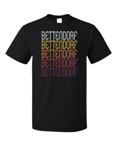 Standard Black Bettendorf, IA | Retro, Vintage Style Iowa Pride  T-shirt
