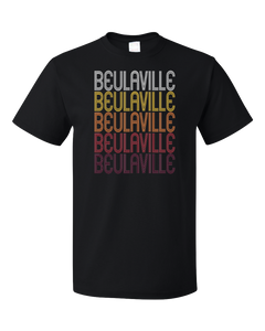 Standard Black Beulaville, NC | Retro, Vintage Style North Carolina Pride  T-shirt