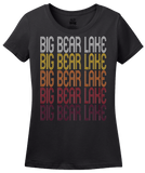 Ladies Black Big Bear Lake, CA | Retro, Vintage Style California Pride  T-shirt