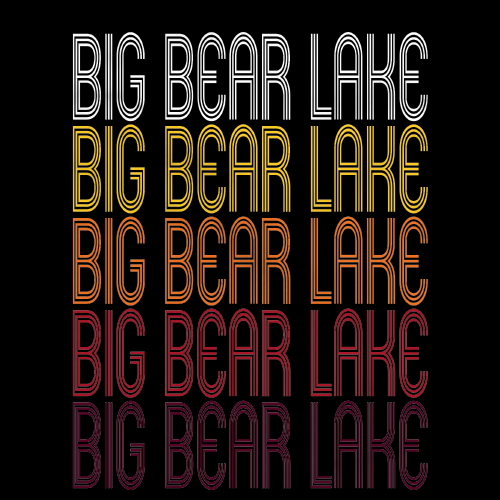 Big Bear Lake, CA | Retro, Vintage Style California Pride