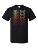 Standard Black Big Lake, TX | Retro, Vintage Style Texas Pride  T-shirt