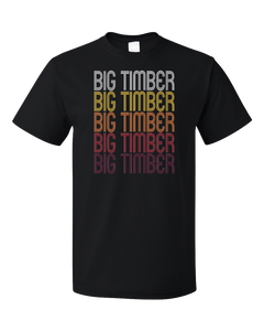 Standard Black Big Timber, MT | Retro, Vintage Style Montana Pride  T-shirt