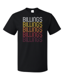 Standard Black Billings, WY | Retro, Vintage Style Wyoming Pride  T-shirt