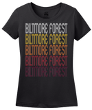Ladies Black Biltmore Forest, NC | Retro, Vintage Style North Carolina Pride  T-shirt