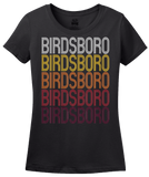 Ladies Black Birdsboro, PA | Retro, Vintage Style Pennsylvania Pride  T-shirt