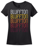 Ladies Black Bluffton, SC | Retro, Vintage Style South Carolina Pride  T-shirt