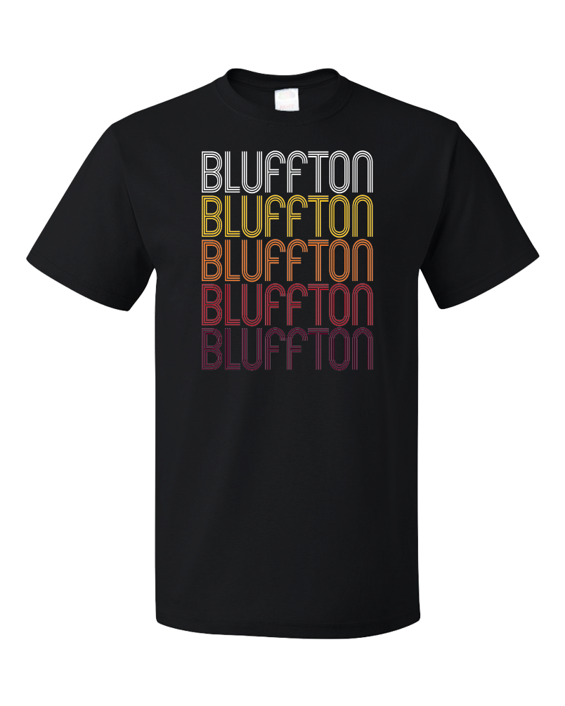 Standard Black Bluffton, SC | Retro, Vintage Style South Carolina Pride  T-shirt