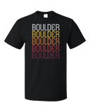 Standard Black Boulder, CO | Retro, Vintage Style Colorado Pride  T-shirt